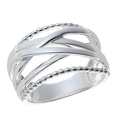 Sevilla Silver™ Crisscross Band Ring