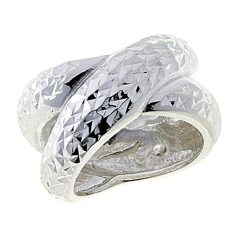 "Sevilla Silver™ Diamond-Cut Bold ""X"" Ring"
