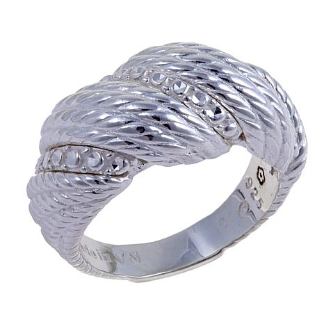 Sevilla Silver™ Diamond-Pressed Twisted Band Ring