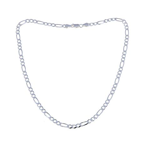 "Sevilla Silver™ Figaro Link 18"" Chain Necklace"