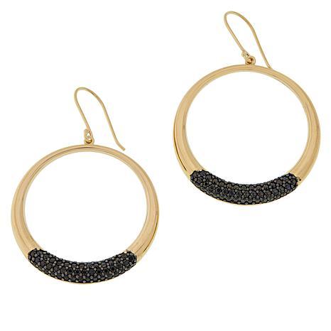 Sevilla Silver™ Gold-Plated Gemstone Circle Dangle Earrings