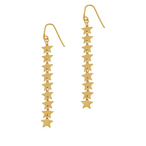 Sevilla Silver™ Gold-Plated Star Drop Earrings