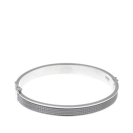 Sevilla Silver™ Sparkle Inlay Bangle Bracelet