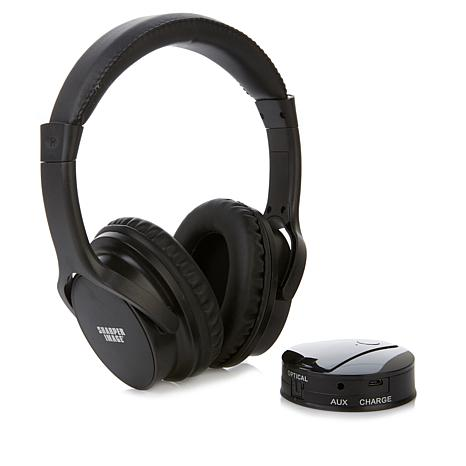 Sharper Image Own Zone Dlx Wireless Tv Headphones With Transmitter