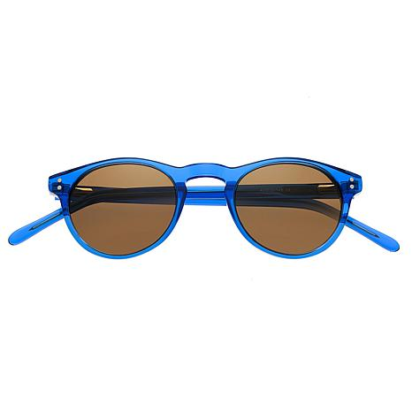 Simplify Russell Polarized Sunglasses w/ Blue Frame and Brown Lenses