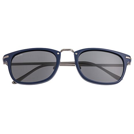 Simplify Theyer Polarized Sunglasses with Blue Frame and Black Lenses