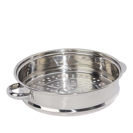 """Simply Ming Healthy Cookware 11"""" Stainless Steamer Basket"""