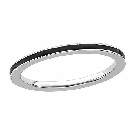 Simply Stacks™ 1.5mm Enameled Sterling Silver Stackable Ring