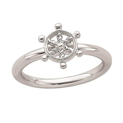 Simply Stacks Sterling Silver Ship's Wheel Ring