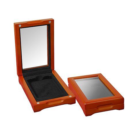 "Single Coin Slab Wooden Window Display Box -5-3/8"" x 4"""