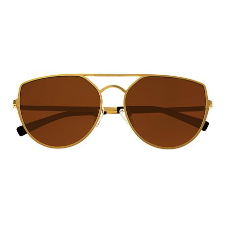 Sixty One Boar Polarized Sunglasses with Gold Frame and Brown Lenses