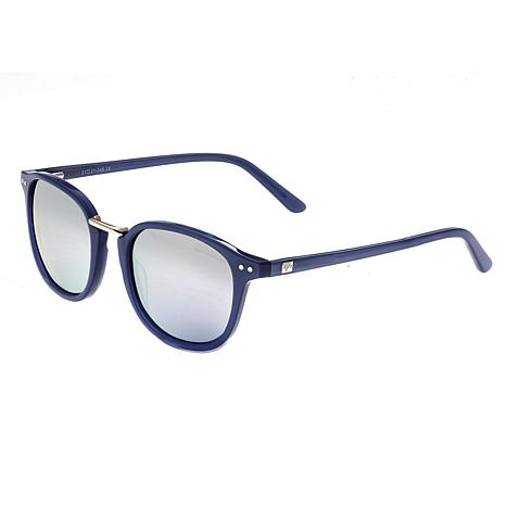 Sixty One Champagne Polarized Sunglasses - Blue Frame and Black Lenses