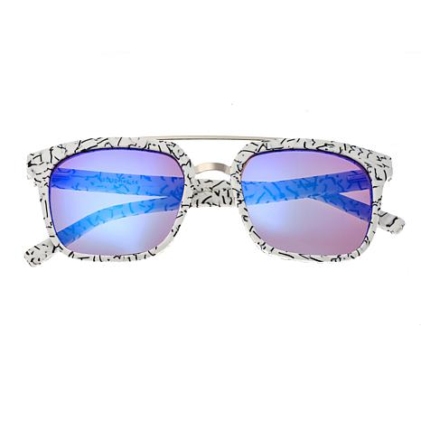 Sixty One Lindquist Polarized Sunglasses with White Marble Frame