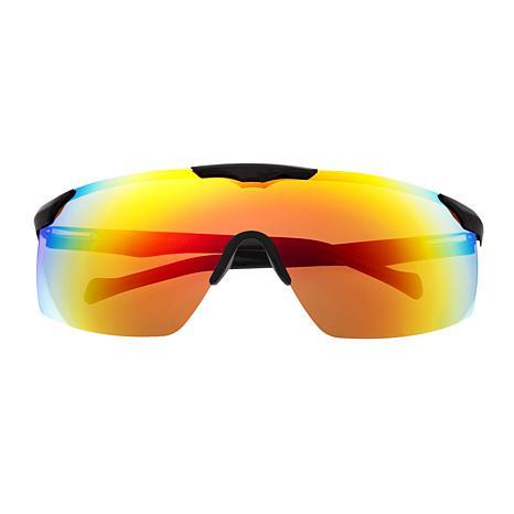 Sixty One Shore Polarized Sunglasses with Black Frame & Rainbow Lenses