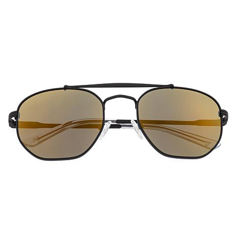 Sixty One Stockton Polarized Sunglasses - Black Frames and Gold Lenses