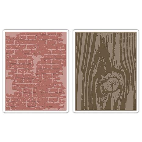 Sizzix Texture Fades Embossing Folders 2-pack