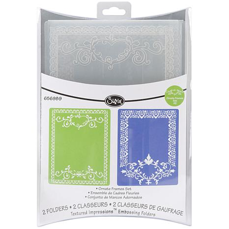 Sizzix Textured Impressions A2 Embossing Folders 2-pack