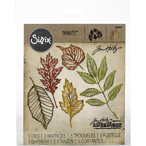 Sizzix Thinlits Dies By Tim Holtz 5-pack - Skeleton Leaves