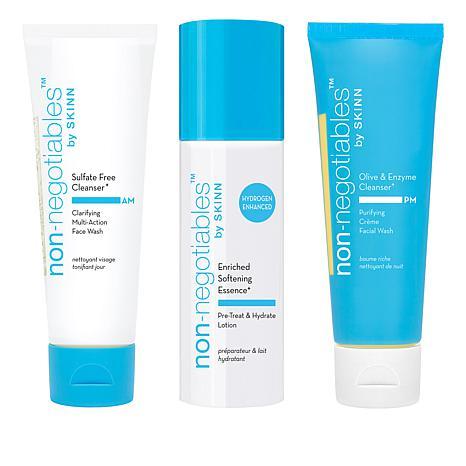 Skinn® Cosmetics 3-piece Non-Negotiables Facial Cleanser Set AS