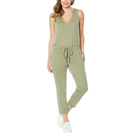 Skinnygirl French Terry Sleeveless Jumpsuit