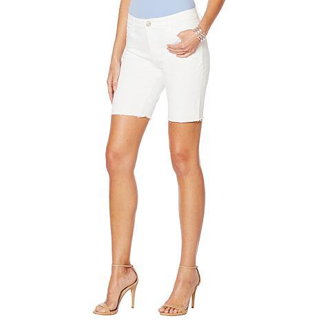 Skinnygirl Mid-Rise Long Short - White