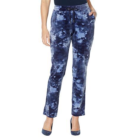 Skinnygirl Printed Velour Jogger Pant