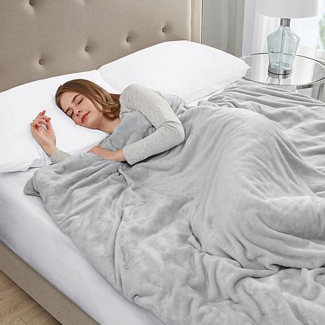 Sleep Philosophy Plush 18 lb. Weighted Blanket - Gray