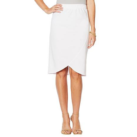 Slinky® Brand 2pk Luxe Crepe Tulip Pencil Skirts