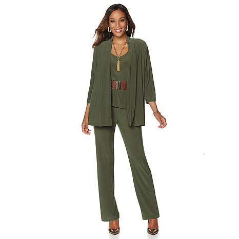 Slinky® Brand 3-piece Jacket, Tank and Pant Set