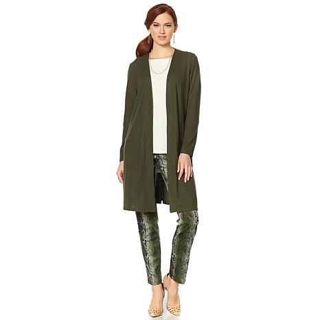 Slinky® Brand Cozy Sweater Duster with Pockets