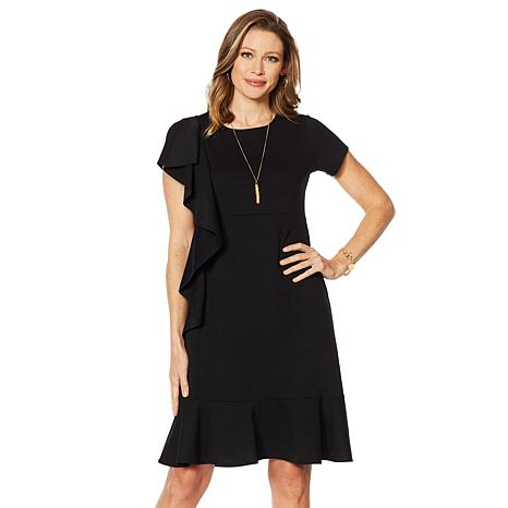 Slinky® Brand Luxe Crepe Midi Dress