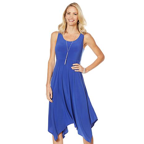 Slinky® Brand Sleeveless Hanky-Hem Dress