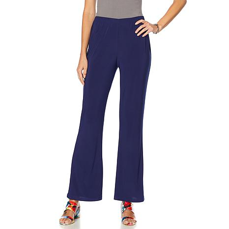 Slinky® Brand Solid Flare-Leg Knit Pant