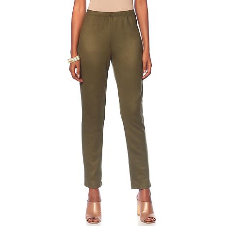 Slinky® Brand Stretch Faux Suede Pant