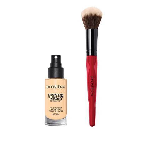 Smashbox 1.2 Warm Fair Studio Skin Foundation with Brush