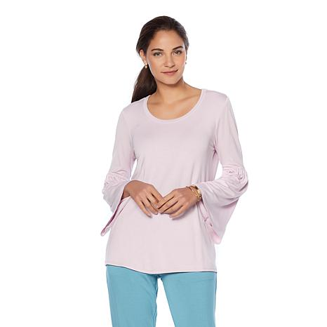 Soft & Cozy Loungewear Cool Luxe Knit Bell-Sleeve Top