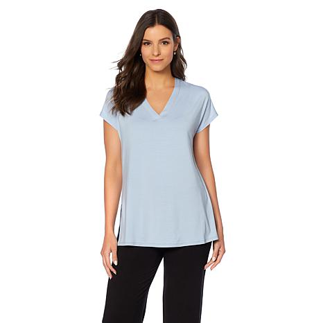 Soft & Cozy Loungewear Cool Luxe Knit V-Neck Tee