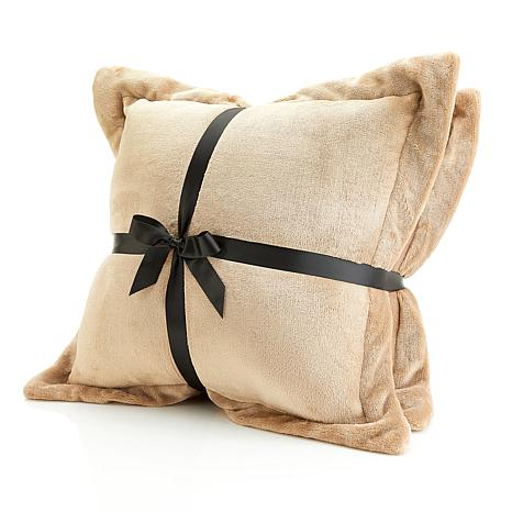 soft decorative pillows.  Soft Cozy Plush Decorative Pillow Pair 8464741 HSN