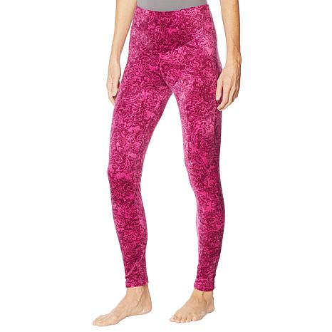 Soft & Cozy Velour High-Rise Legging with Curved Yoke
