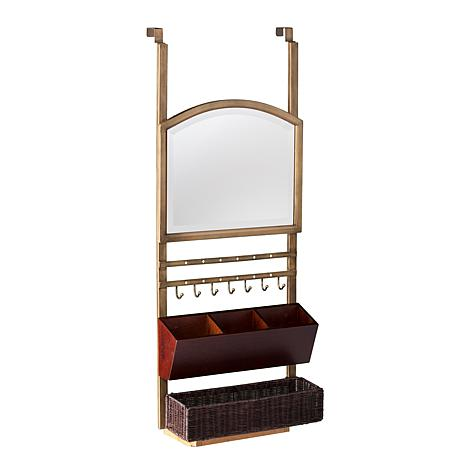 Southern Enterprises Dacey Over-the-Door Organizer  sc 1 st  HSN.com & Southern Enterprises Dacey Over-the-Door Organizer with Mirror ...