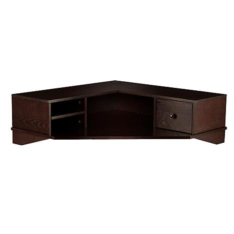 Southern Enterprises Hutto Wall Mount Corner Desk