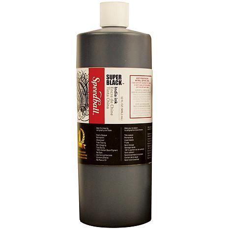 Speedball Super Black India Ink - 32 oz.