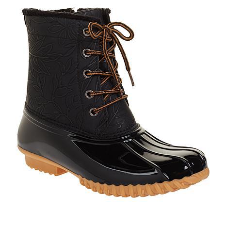 Sporto® Bella Waterproof Lace-Up Duck Boot with Zipper