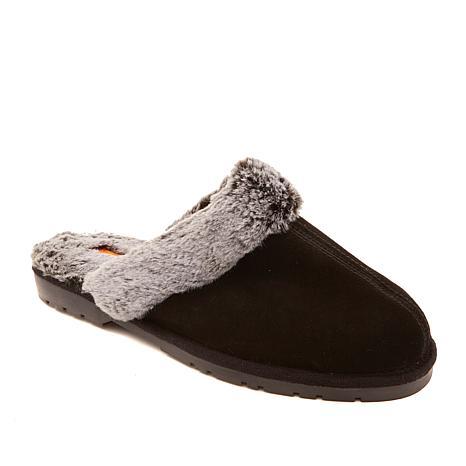 Sporto® Jasmine3 Knit Slipper with Faux Fur Trim