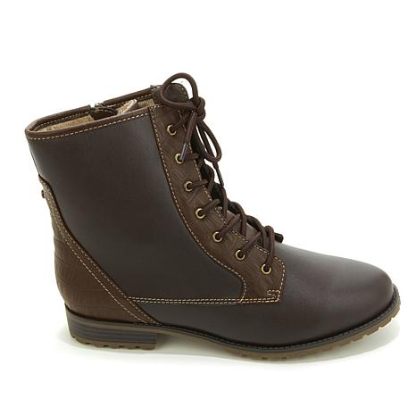 Sporto® Lace-Up Ankle Boot with Side Zipper - 8130450   HSN