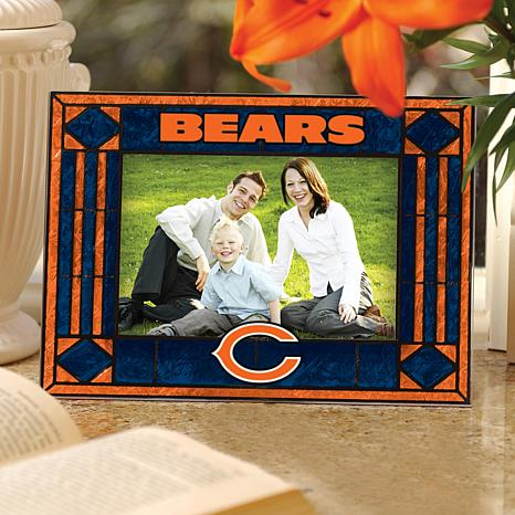 Sports Team Art Glass Picture Frame - Chicago Bears