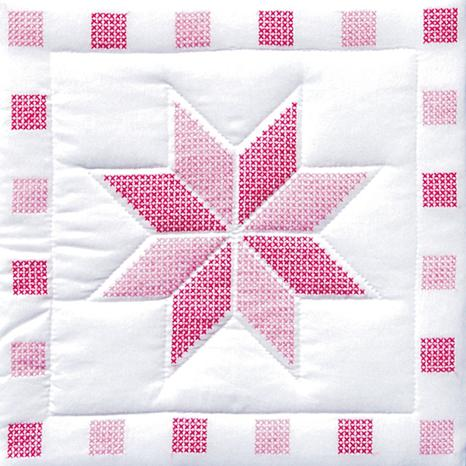 Stamped White Quilt Blocks 18-inch x 18-inch