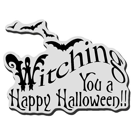 Stampendous Halloween Rubber Stamp - Witching U