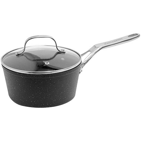 "Starfrit ""The Rock"" 2-Quart Saucepan with Glass Lid"