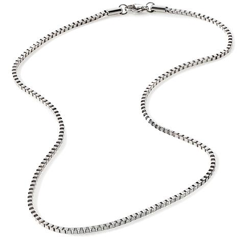 """Stately Steel 2.5mm Box-Link 20"""" Chain Necklace"""